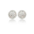 3.20ct Diamond 18k White Gold Earrings