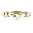 .46ct Diamond 18k Yellow Gold Wedding Band Ring