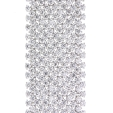 46.90ct Diamond 18k White Gold Bracelet