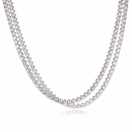 p necklace pendant platinum top gold setting diamonds diamond jewelry white or