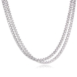 38.32ct Diamond Platinum Tennis Necklace