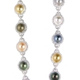 8.89ct Diamond and South Sea Pearl 18k White Gold Necklace