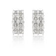 3.16ct Diamond 18k White Gold Earrings