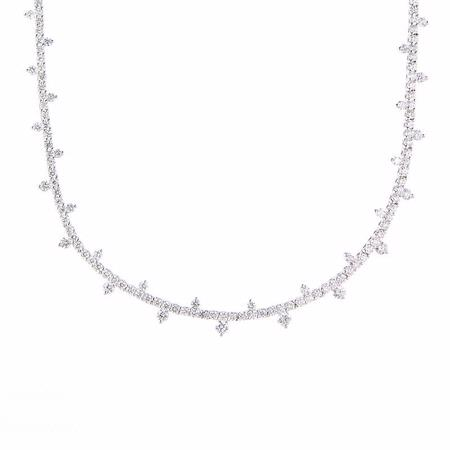 6.02ct Diamond 18k White Gold Necklace
