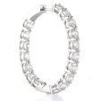 7.38ct Diamond 18k White Gold Hoop Earrings