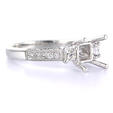 .58ct Diamond Platinum Antique Style Engagement Ring Setting