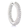 4.92ct Diamond 18k White Gold Hoop Earrings