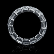 7.64ct Diamond Platinum Eternity Wedding Band Ring