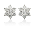 .69ct Diamond 18k White Gold Cluster Earrings