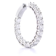 4.69ct Diamond 18k White Gold Hoop Earrings
