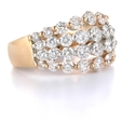 2.08ct Diamond 18k Two Tone Gold Wedding Band Ring