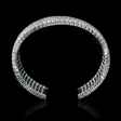 38.60ct Diamond 18k White Gold Bangle Bracelet