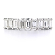 1.35ct Diamond 18k White Gold Wedding Band Ring