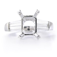 .68ct Diamond 18k White Gold Engagement Ring Setting