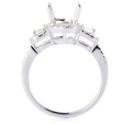 .69ct Diamond 18k White Gold Halo Engagement Ring Setting