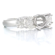 .76ct Diamond 18k White Gold Engagement Ring Setting