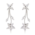 2.50ct Diamond 18k White Gold Floral Earrings