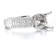 .74ct Diamond 18k White Gold Engagement Ring Setting
