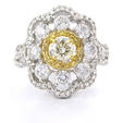 1.80ct Diamond 18k Two Tone Gold Ring