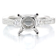 .62ct Diamond Antique Style Platinum Engagement Ring Setting