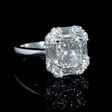 .90ct Diamond 18k White Gold Halo Engagement Ring Setting