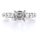 Diamond Platinum Antique Engagement Ring Setting