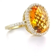 .49ct Diamond and Citrine 14k Yellow Gold Ring