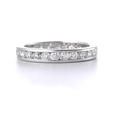 1.52ct Diamond 18k White Gold Eternity Wedding Band Ring