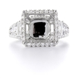 1.51ct Diamond 18k White Gold Halo Engagement Ring Setting