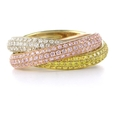 2.55ct Diamond 18k Three Tone Gold Ring