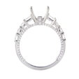 1.45ct Diamond 18k White Gold Engagement Ring Setting