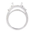 1.10ct Diamond 18k White Gold Halo Engagement Ring Setting