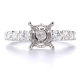 1.24ct Diamond 18k White Gold Engagement Ring Setting