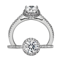 Ritani Bella Vita Collection Diamond 18k White Gold Engagement Ring Setting