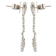 1.33ct Diamond 18k White Gold Chandelier Earrings