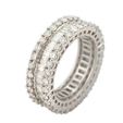 3.61ct Diamond Platinum Eternity Wedding Band Ring