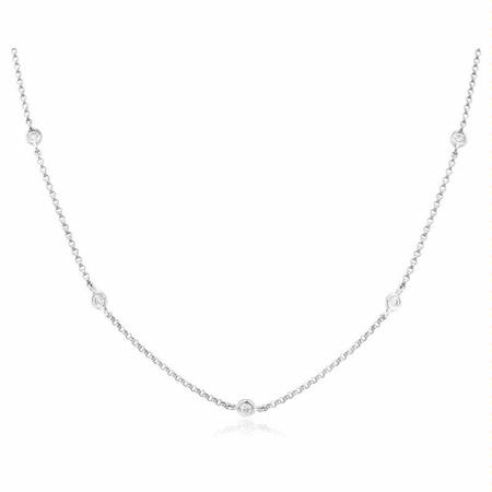.73ct Diamond Chain 18k White Gold Necklace