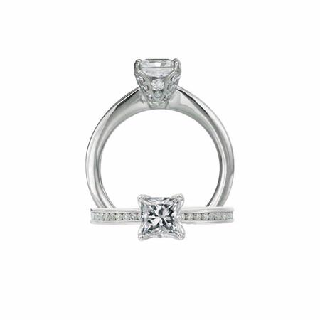 Ritani Setting Collection Diamond Platinum Engagement Ring Setting