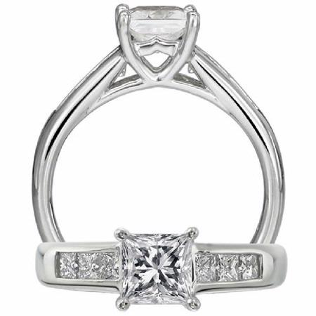 Ritani Classic Collection Diamond Platinum Engagement Ring Setting