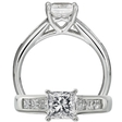 .55ct Ritani Classic Collection Diamond Platinum Engagement Ring Setting