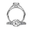 .43ct Ritani Classic Collection Diamond Platinum Engagement Ring Setting