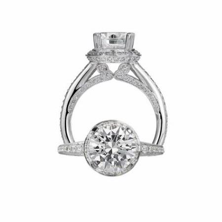 .66ct Ritani Masterwork Collection Diamond Platinum Halo Engagement Ring Setting