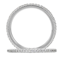 Ritani Bella Vita Collection Diamond Platinum Eternity Wedding Band Ring
