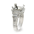 2.14ct Diamond Platinum Halo Engagement Ring Setting