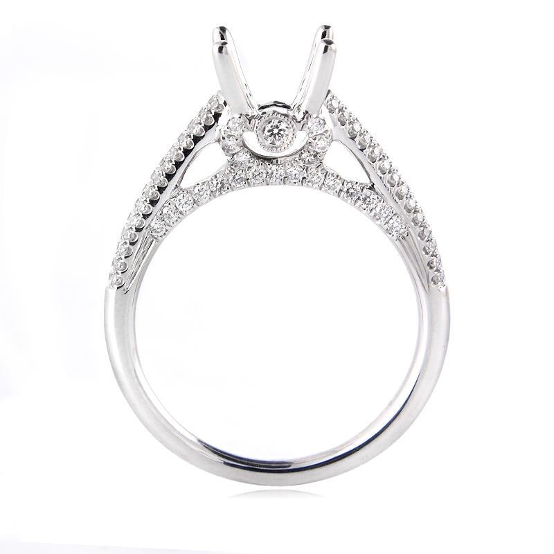 46ct Diamond Platinum Engagement Ring Setting