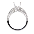 .30ct Diamond Antique Style 18k White Gold Engagement Ring Setting