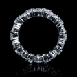 6.53ct Diamond Platinum Eternity Wedding Band Ring