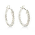 .36ct Diamond 18k White Gold Hoop Earrings