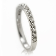 Natalie K Diamond 18k White Gold Wedding Band Ring