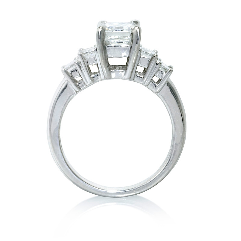 1 01ct Diamond Platinum Engagement Ring Setting